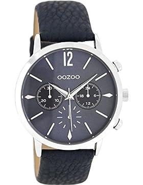 Oozoo Damenuhr mit Lederband 40 MM Blaugrau/Blaugrau C8247