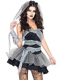 Aimerfeel-Sexy weiblichen Corpse Bride Cosplay Kleid durchführen Kostüme Halloween Dekoration Halloween und Lust auf Party Kostüm, Zombie Halloween Fancy Dress, Größe 34-36 begraben
