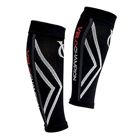 VeloChampion Kompression Socken, Kalb-Unterstützung, Kalb Ärmel (schwarz