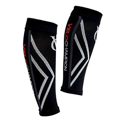 VeloChampion fasce di compressione per polpacci - Nero - Compression Calf Sleeves