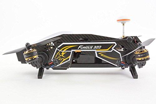XciteRC 15003850 - FPV Racing Quadrocopter Furious 320 RTF mit Full HD Kamera, Videobrille Goggle V2, GPS, OSD, Akku, Ladegerät und Devo 10 Fernsteuerung, weiß - 11