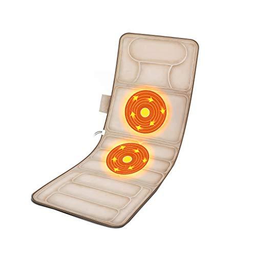 Zurück Tiefem Sitz (Zurück Wärmetherapie-Massagegerät Massage-Matratze für den Haushalt im Haushalt | Wärmetherapie-Massagegerät | Rückenelektrisches Massagekissen | Matte mit tiefem Gewebekneten und Vibration für eine v)