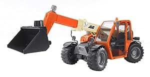 BRUDER - 02140 - Chargeur télescopique JLG 2505 - Orange