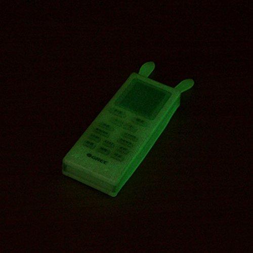 WEIAIXX Cute Klimaanlage Tv Remote Regenhülle Abdeckung Transparentes Silikon Remote-Schutz-Abdeckung Air Conditioner Fluoreszierende Farbe Kaninchen Abschnitt -
