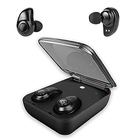 écouteurs Bluetooth 4.1 avec chargeur portable, Hobest Mini écouteurs sans