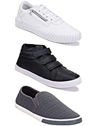 Bersache Combo Pack of 3,Sports, lace-up, Running Shoe for Men