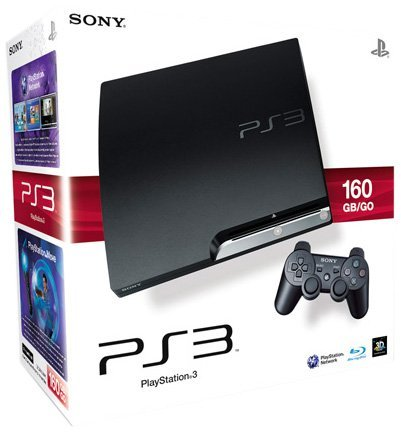 PlayStation 3 - Konsole Slim 160 GB (K-Model) inkl. Dual Shock 3 Wireless Controller (Ps3 Konsolen)