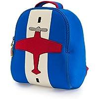 Dabbawalla bolsas mochila preescolar infantil y avión, azul/rojo