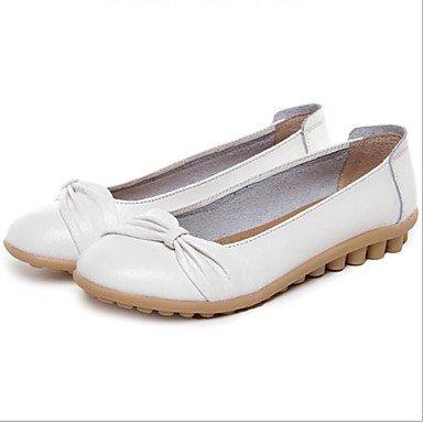 Wuyulunbi@ Scarpe donna estate autunno Ballerina Flats tacco piatto punta tonda per Casual arancione bianco nero Bianco