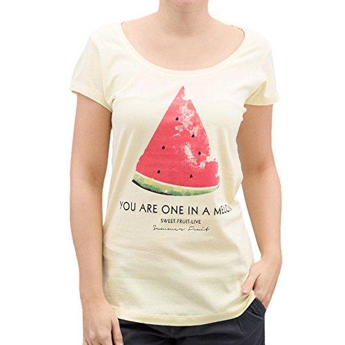 Authentic Style Femme Hauts / T-Shirt Summer Fruit Jaune