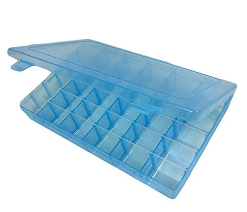 Sea Team Boîte de Rangement à Bijoux Outils Ajustable à Usages Multiples en Plastique 36 Compartiments (Bleu)