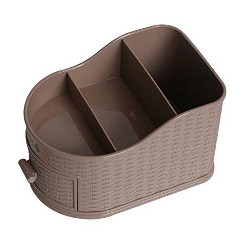 Zzaini Vendimia Caja Cosméticos, Multi-Funcional Caja De Almacenamiento Organizador De Escritorio-A 11.5x17x11.5cm