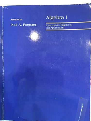 Prentice Hall Classics: Algebra 1 Solutions Key (Prentice Hall 1 Algebra Classics)