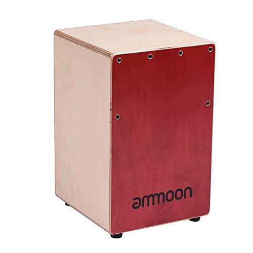 Ammoon Box Kinder Cajon Holz Trommel Drum Percussion-Instrument aus Birkenholz mit Saiten Verstellbare Tragetasche (Drum Schublade)