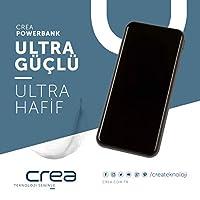 Crea Powerbank (Dijital Ekran) Taşınabilir Hızlı Şarj Aleti - Sarı - 10.000 Mah