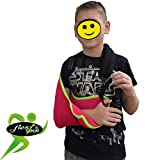 Kinder-Armschlinge Xtra Deep Cooling, wendbar, leicht anzubringen, verstellbar, Daumenschlaufe, Smiley-Aufkleber. Unisex.