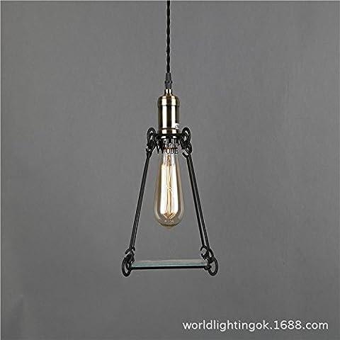 FUMIMID Lampada lampadario di villaggio americano ristorante Cafe navata retro illuminazione lampadario f 260 * H250