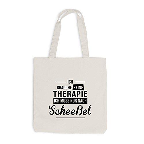 Jutebeutel - Ich Brauche Keine Therapie Scheeßel - Therapy Urlaub Deutschland Beige