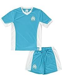 Maillot + short OM - Collection officielle Olympique de Marseille - Taille enfant garçon