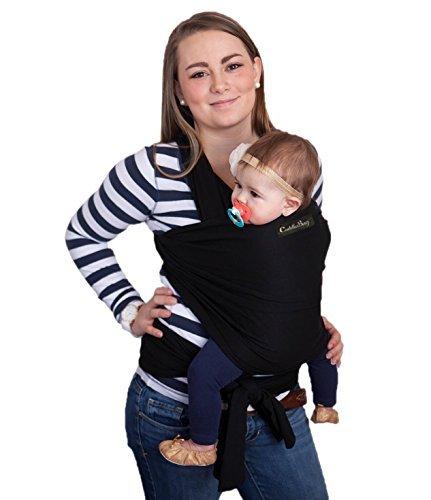 Porte bébé CuddleBug - écharpe de portage grise pour bébé - entiérement  naturelle - taille unique 3baa623a873