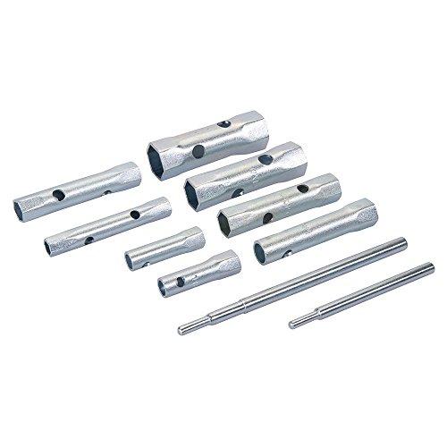 Silverline 571532 Metrische Rohrsteckschlüssel, 8-tlg. Satz 8–22 mm