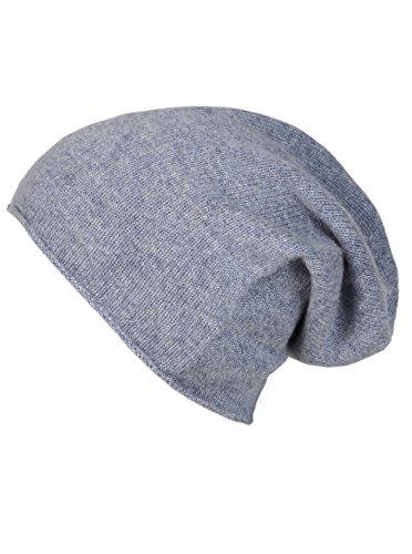 Slouch-Beanie-Mütze aus 100% Kaschmir - Hochwertige Strickmütze für Damen Mädchen Jungen - Hat - Unisex - One Size - warm und weich im Sommer Herbst und Winter von Zwillingsherz - jean