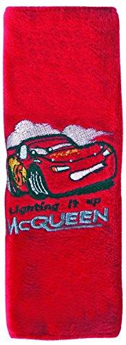 Disney Cars 25907 Gurtschoner für Kinder - Lightning McQueen, gestickt in hochwertiger PVC-Tasche, rot -