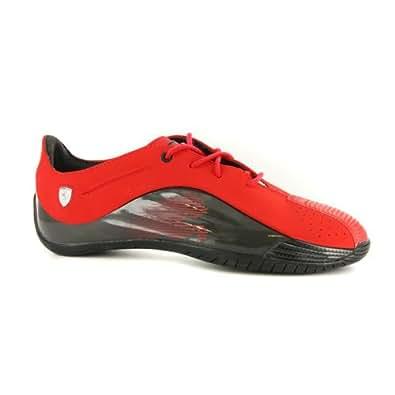Puma Kraftek Ferrari Rouge Noir Cuir Hommes Motorsport Chaussures Baskets EUR 43