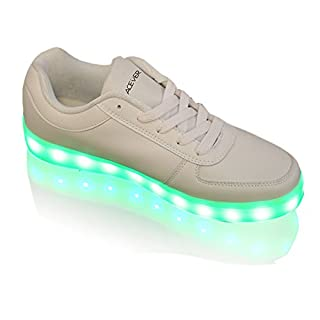 ACEVER 12-Light Women's LED Sneaker Sports Shoes Flashing Boots Birthday Gift Prom Party Rave Party Camping Hiking Trekking Shoes (EU37/UK4.5-5/CHN38)