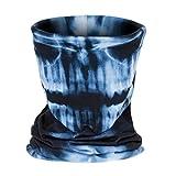 Unisex Elastisches Stirnband Maske Winddicht Haarband, LEEDY Multifunktionale Im Freien Warm Kapuze 3D-Druck Sport Nahtlose Halstuch Schal mit UV Beständigkeit Kopfbedeckung
