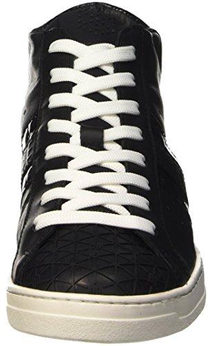 Bikkembergs Bounce 708 Mid Shoe W Leather/Fabric, Baskets Hautes Femme Noir - noir