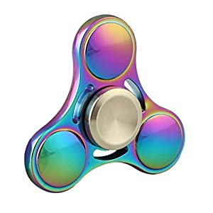 Tri Fidget Hand Spinner Toy,Stress Reducer Ultra Durable High Speed Ceramic Bearing Fidget Finger Toy Can Continue to Rotate for 2-4 minutes - Perfect for ADD / ADHD / Anxiety / Autism And Stress Relief Adult Children,Office Desk Gadget