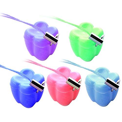 5 Stück Kunststoff primär Zahn Saver Box Tasche Lagerbehälter mit einer Halskette hängen Seil zufällige Farbe (Farbe Kunststoff-lagerbehälter)