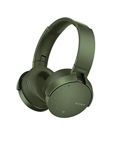 Sony MDR-XB950N1 kabelloser Kopfhörer mit Geräuschminimierung (Noise Cancelling, Extrabass, NFC, Bluetooth, faltbar) grün - 2