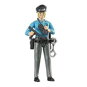 Bruder Hermano 60430 - policía bworld con el Tipo de Piel Clara y Accesorios - Minifigure