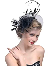 d596d178218e StageOnline Cerchietto con Piuma del Partito Donne Fascinator Cappello per  Accessori di Nuziale del Cocktail
