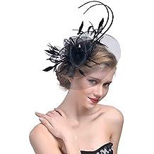 StageOnline Cerchietto con Piuma del Partito Donne Fascinator Cappello per  Accessori di Nuziale del Cocktail 59398df559fe