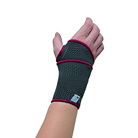 Medically Approved - Soft Woven Elastic Wraparound Wrist Support (One Size Fits All) - Supplied to NHS for wrist injuries, arthritis and suitable for sports