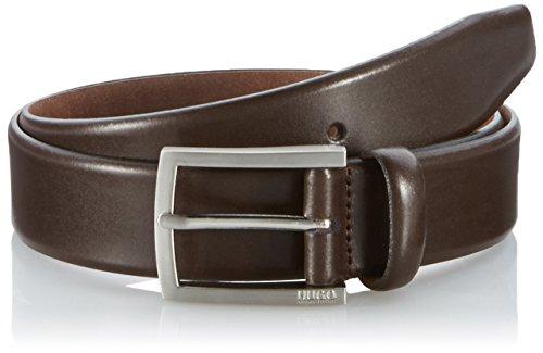 HUGO Herren Gürtel C-Barney-L 10112599 01, Braun (Dark Brown 203), 95 cm