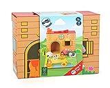 Bavaria Home Style Collection - Ein ganzer Bauernhof in Einem Koffer - Spielkoffer Bauernhof aus Robuster Pappe und schönen Holzfiguren