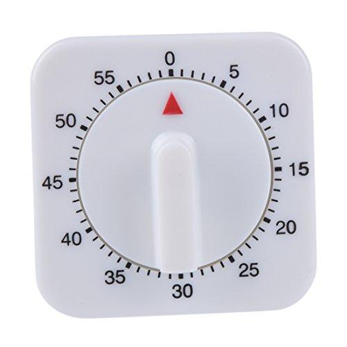 SODIAL (R) 1 Stunde Mechanische Kuechenkoch Uhr Desktop Spiel Countdown-Timer-Stopp-Alarm