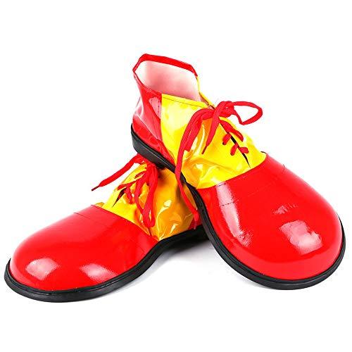 XINXIN Rotes Clown-Kostüm Mit Halloween-Leder-Clown-Schuhen