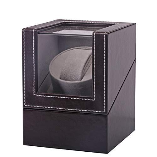 Preisvergleich Produktbild VIGE High Class Motor Shaker Watch Winder Halter Display automatische mechanische Uhr Wicklung Box Schmuck automatische Uhren Box - braun