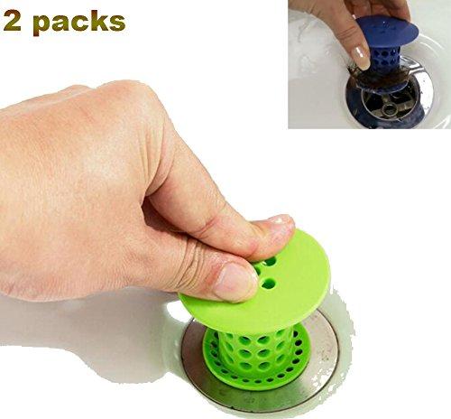 Warmword 2-Pack Badewanne Duschablauf Haarfänger Badewanne Abfluss Protector Haar Catcher Abflusssieb Dusche Silikon