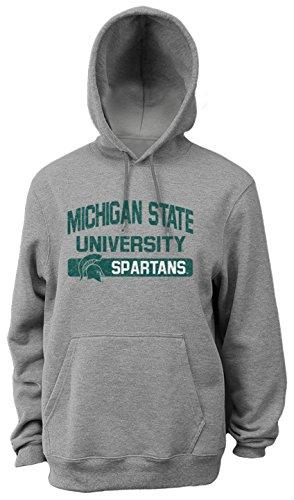 NCAA Michigan State Spartans Herren Pro Gewicht College Logo Fleece Hoodie, Herren, weiß College Hoodie Sweatshirt