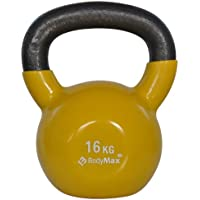 Bodymax Men's Cast Vinyl Coat Kettlebell-Black, 4 kg