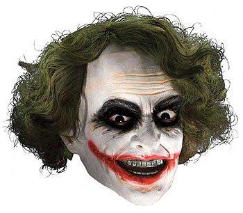Joker?-Maske Deluxe für (Harley Quinn City Arkham Perücke)