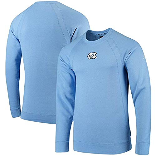 Nike Men's North Carolina Tar Heels Jordan Brand Fleece Crew Raglan Sweatshirt Carolina Blue Size L Jordan Mens Fleece