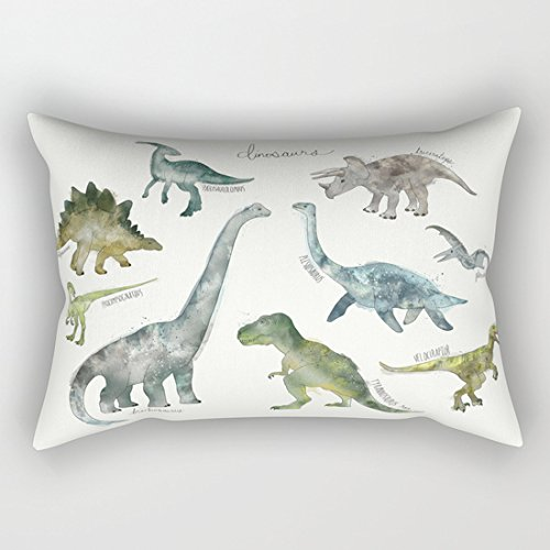 Dinosaurio fundas de cojín decorativo Rectangular fundas de almohada de 12x 20para niños