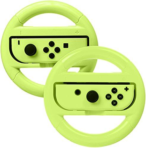AmazonBasics - Volanti per Nintendo Switch - Giallo neon (confezione da 2)